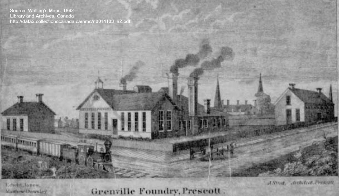 Foundry in Prescott, Ontario, 1862