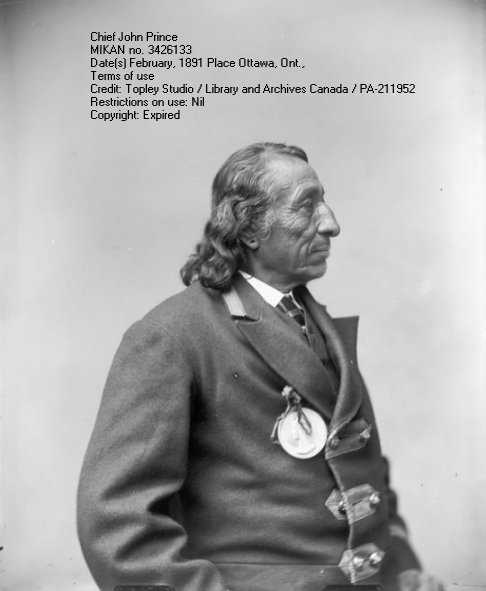 Photograph by William Topley - Chief John Prince, 1891