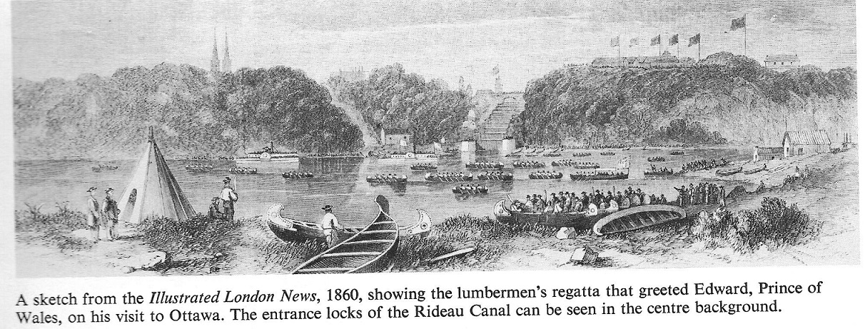 1860 Regatta for the visit of Prince Edward