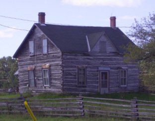 Log House on Peter Robinson Road, Ontario, Canada