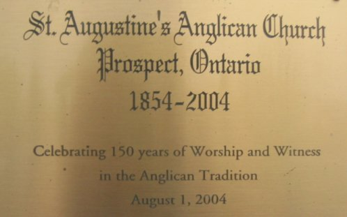 Prospect Anglican Church Plaque