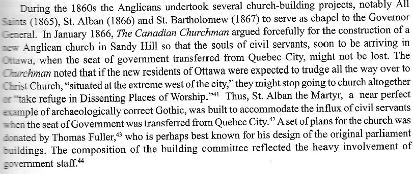 Anglican Churches constructed in Ottawa, Canada, during the 1860s