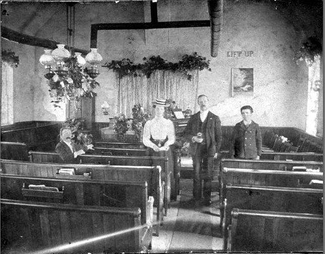 Inside an early Anglican Church in Eastern Ontario