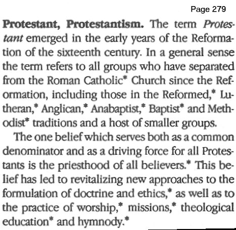 Definition of Protestantism