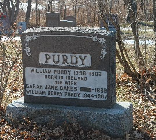 William Purdy and Sarah Jane Oakes, St. Mary the Virgin Anglican Church, Gloucester Township
