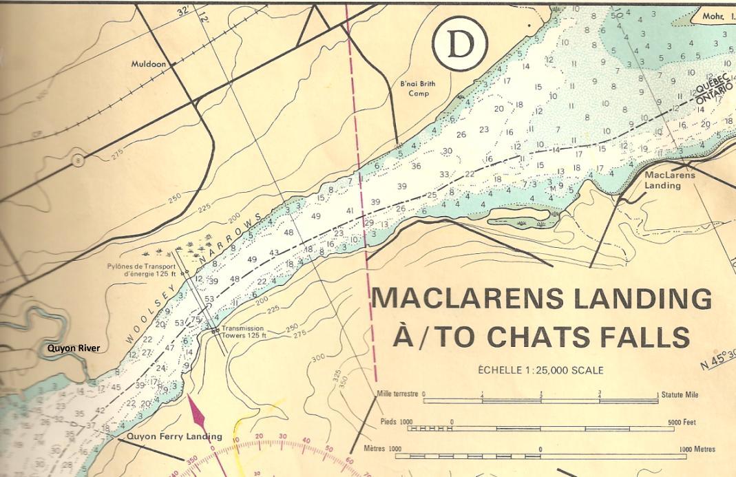 The Otawa River, Quyon, Quebec to MacLaren's Landing, Ontario
