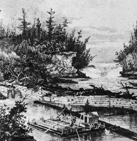 Timber Raft on the Ottawa River