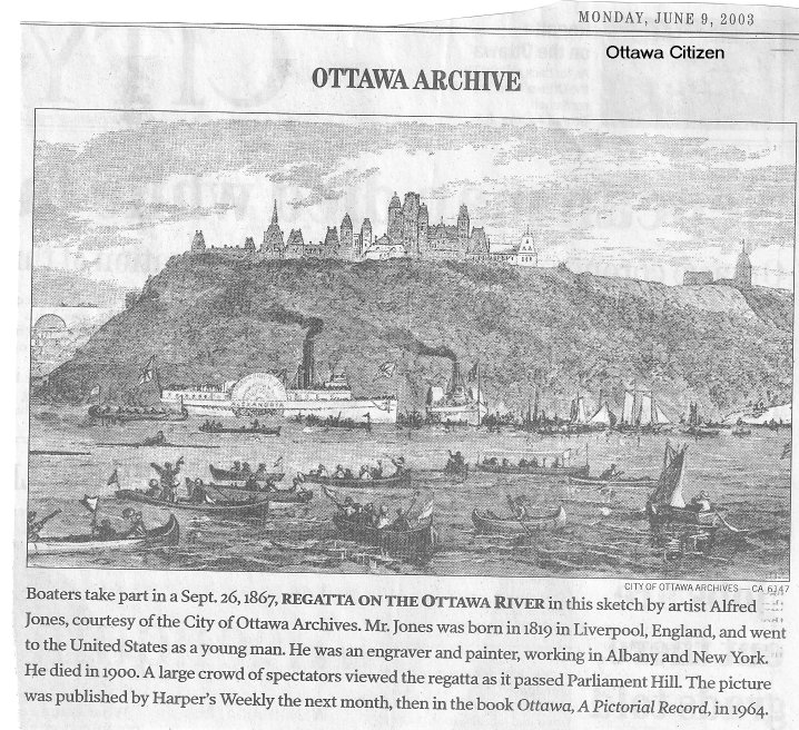 Regatta on the Ottawa River, Ontario, Canada, in 1867