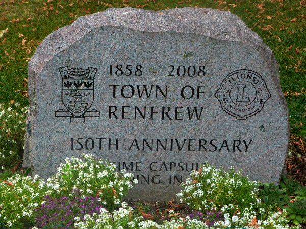 150th Anniversary Monument for the Town of Renfrew, 1858-2008