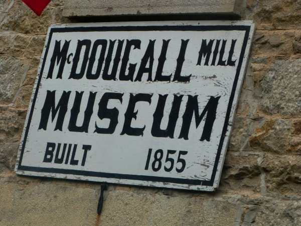 McDougall Mill Museum Sign