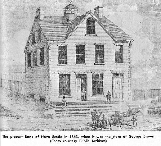 Richmond, Ontario, Bank of Nova Scotia in 1863 (George Brown Store