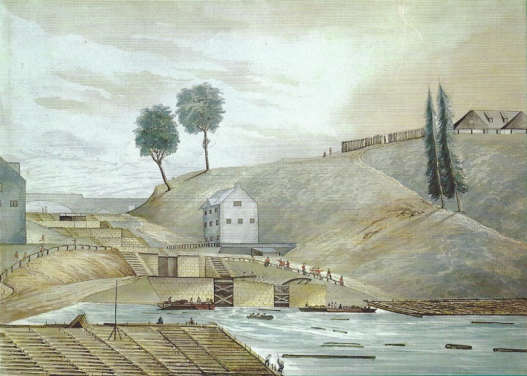 ridcanal painting by Colonel Henry Francis Ainslie