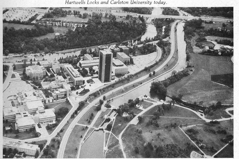 ridcanal diagram showing Hartwells and Carleton University