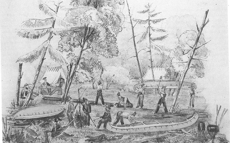 Rideau Canal, Intro Pic First Camp, by Passfield, page 43