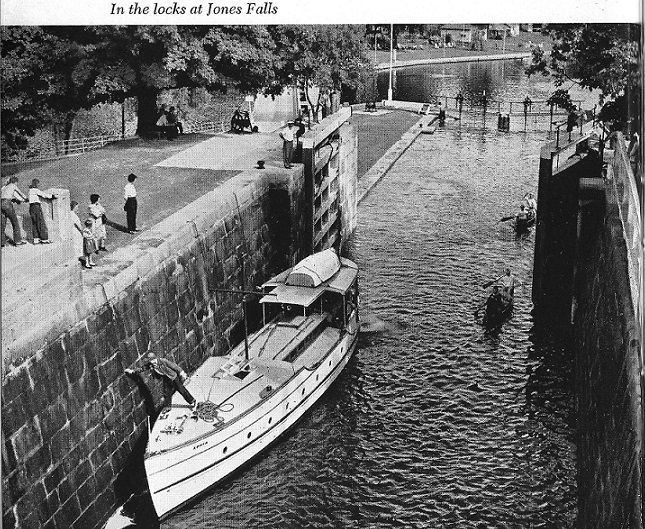 Jones Falls on the Rideau Canal with Boats