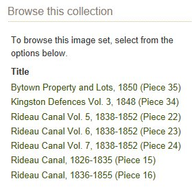 Rideau Canal Records, Ottawa to Kingston, Ontario, Canada