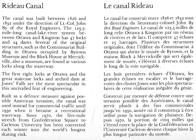 Rideau Canal downtown text