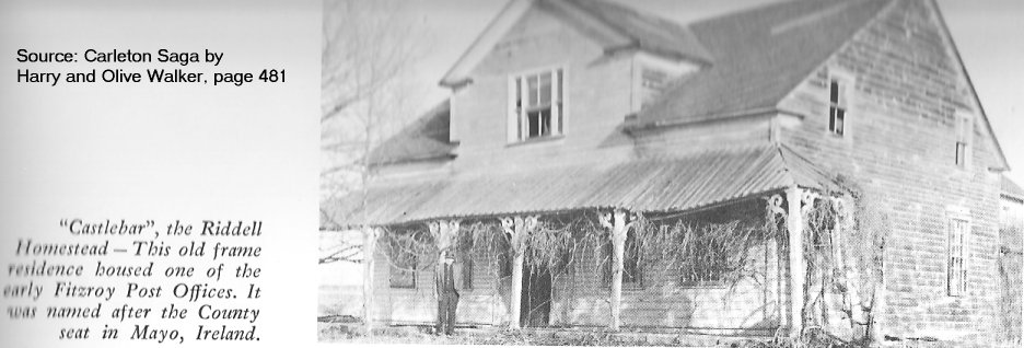Riddell House in Fitzroy Township, Ontario, Canada