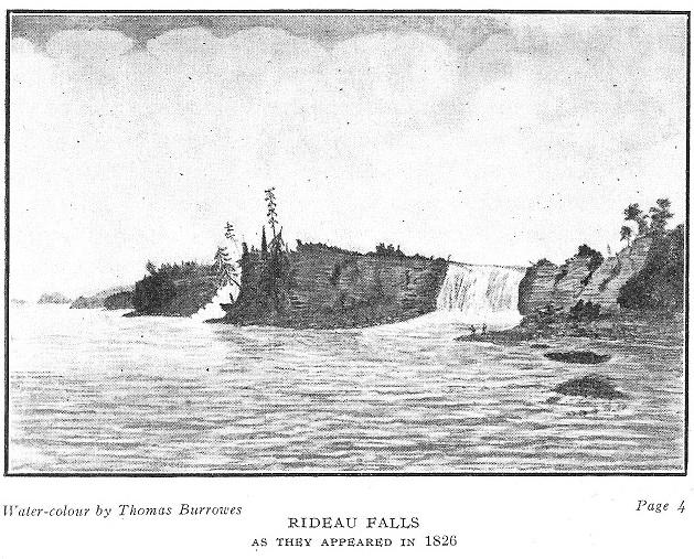 Rideau Falls in 1826