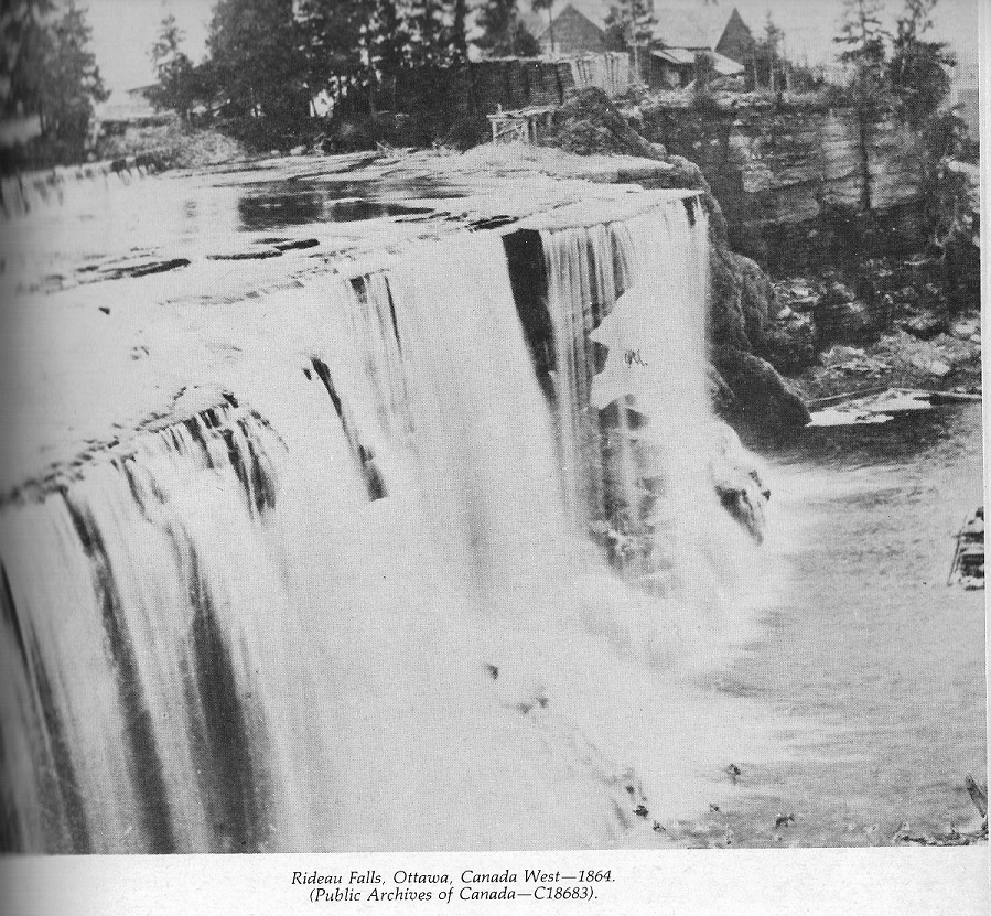 Rideau Falls, 1864