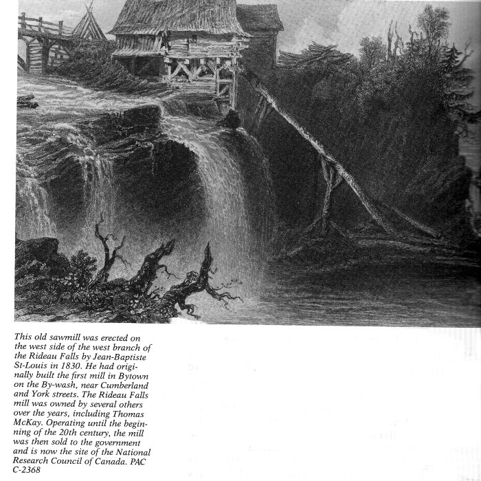 Mill at Rideau Falls, 1830