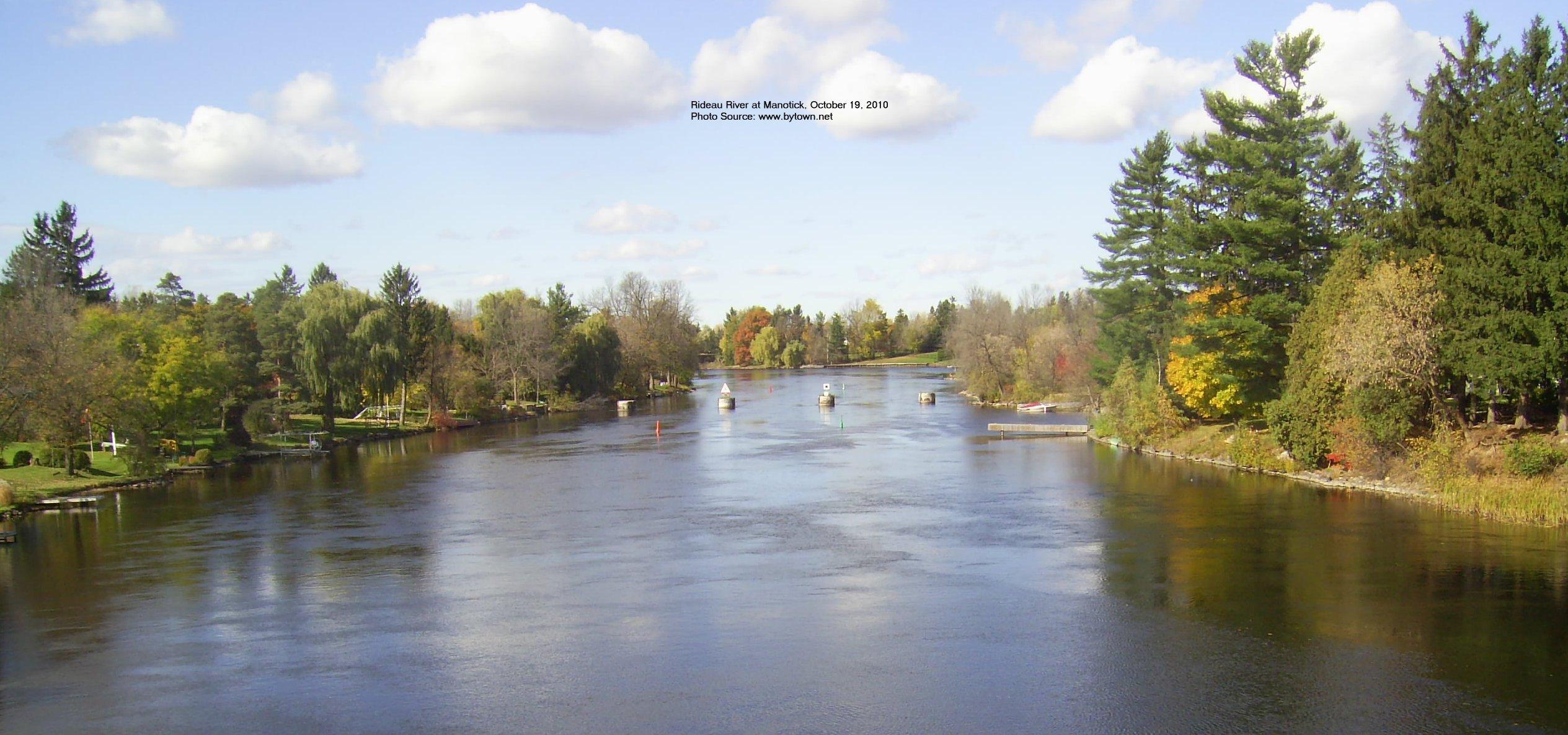 Rideau River at Manotick, Ontario, Canada