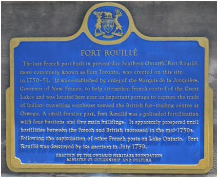 Fort Rouille Plaque