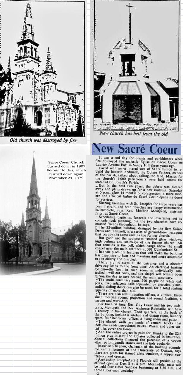 Sacre Coeur RC Church in Sandy Hill, Ottawa, Ontario, Canada