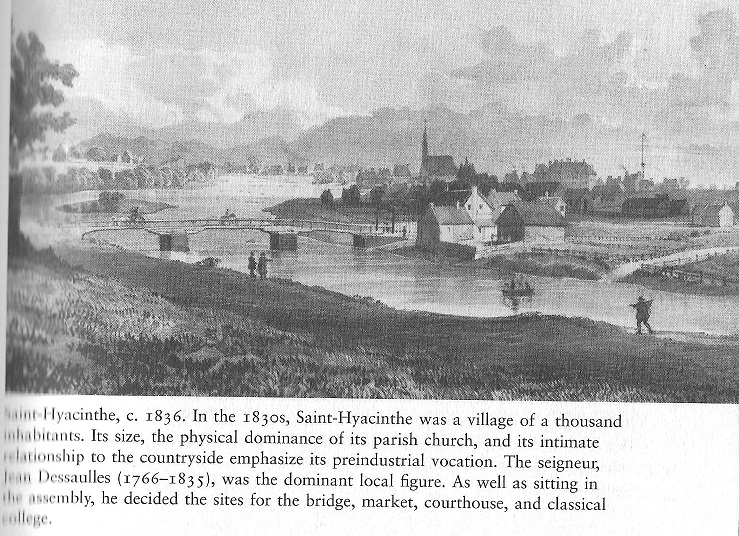 Saint-hyacinth Village, c. 1836
