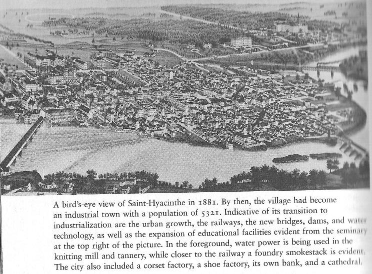 Sainte-hyacinth Village, 1881