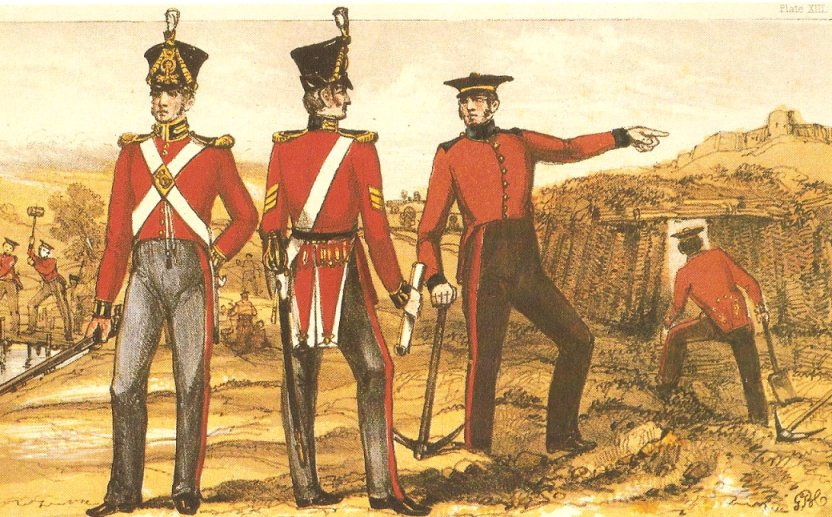 Painting by George B. Campion, Drawing Master, Royal Military Academy, 1825