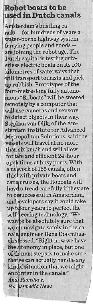 Scan Dutch Robot Boats