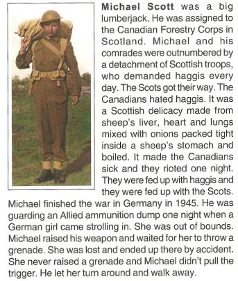 Michael J. Scott - Canadian Forestry Corps, Maniwaki, Quebec