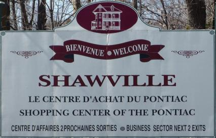 Photo of Sign for Shawville, Pontiac County, Quebec, Canada