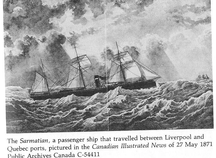 the Ship Sarmatian, 1871