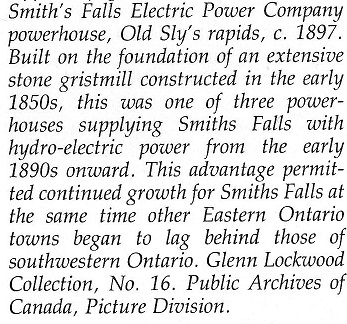 Old Sly's powerhouse for Smiths Falls