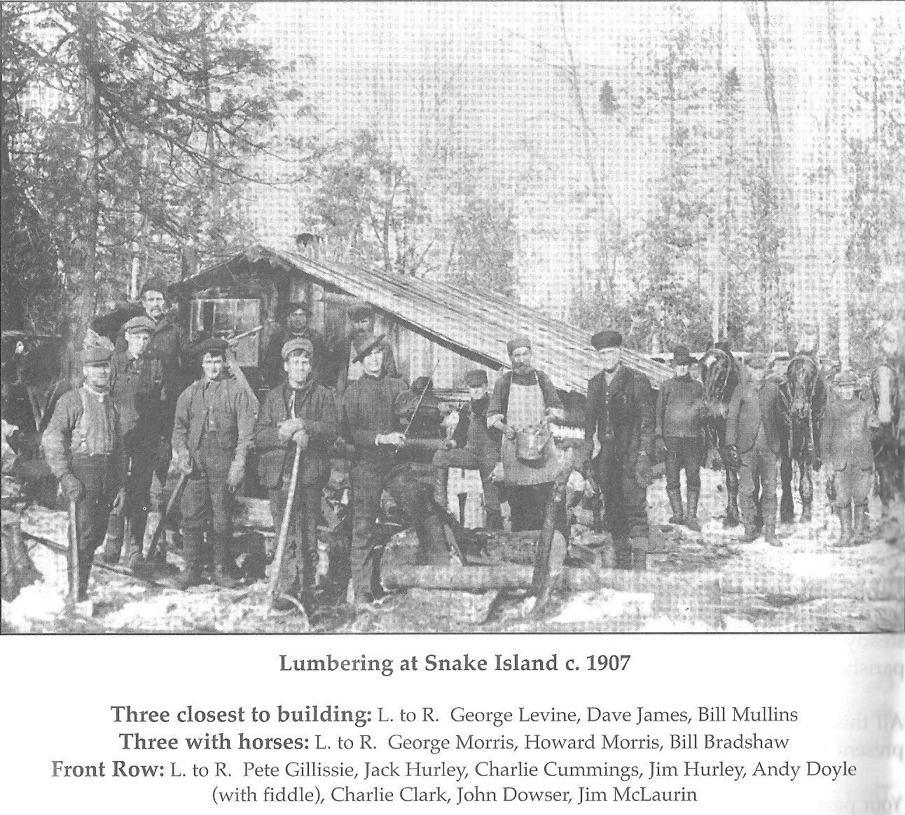 Snake Island Lumbering Shanty, 1907, Osgoode Township, Ontario, Canada
