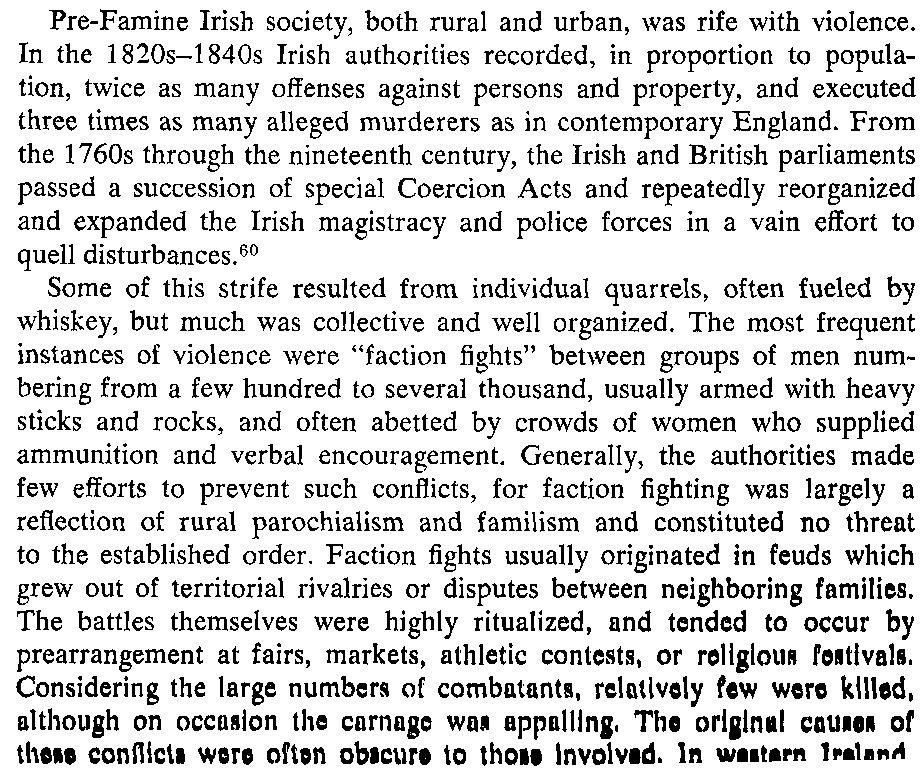 Pre-famine Social Violence in Ireland