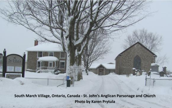 Church and Parsonage at St. Jojn's Anglican Church, South March, Ontario