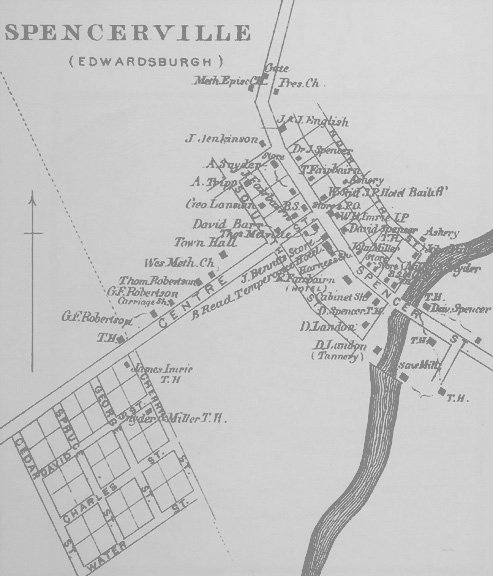Spencerville Village in 1879