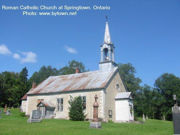 Pioneer Church at Springtown, Ontario, Canada
