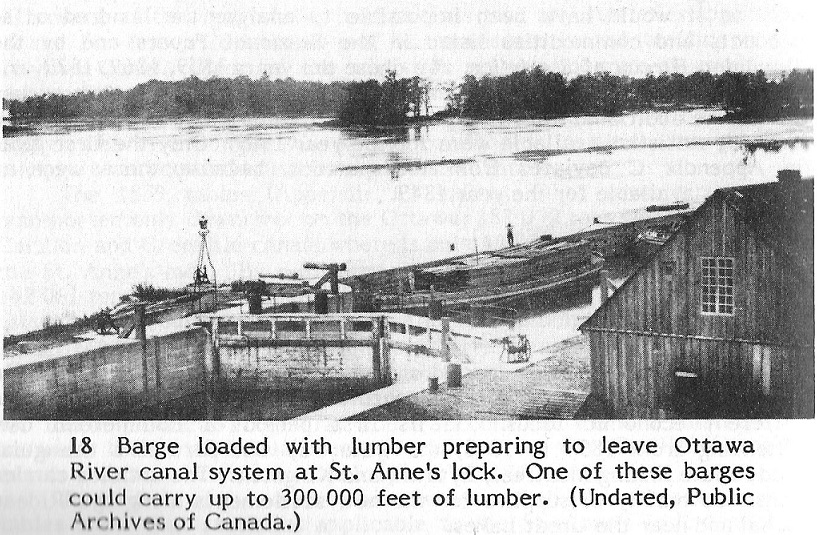 Lumber Barge at St. Anne's Lock