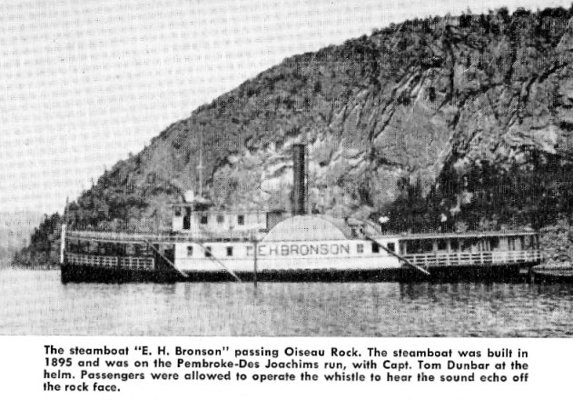 Steamer E.H. Bronson on the Ottawa Rivernear Deep River, Ontario, Canada