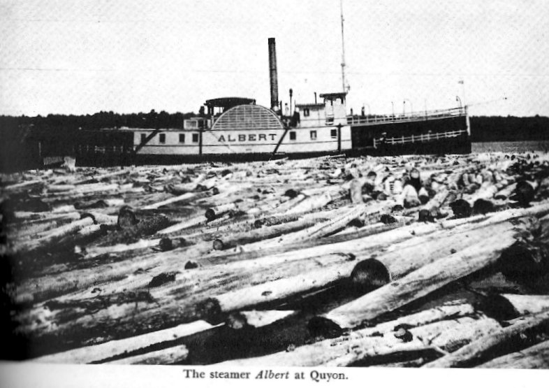 The steamer ALBERT at Quyon, Quebec