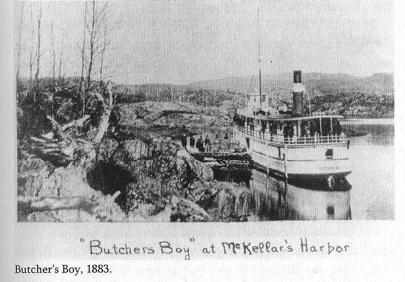Port Arthur, Steamer Butchers Boy, 1883