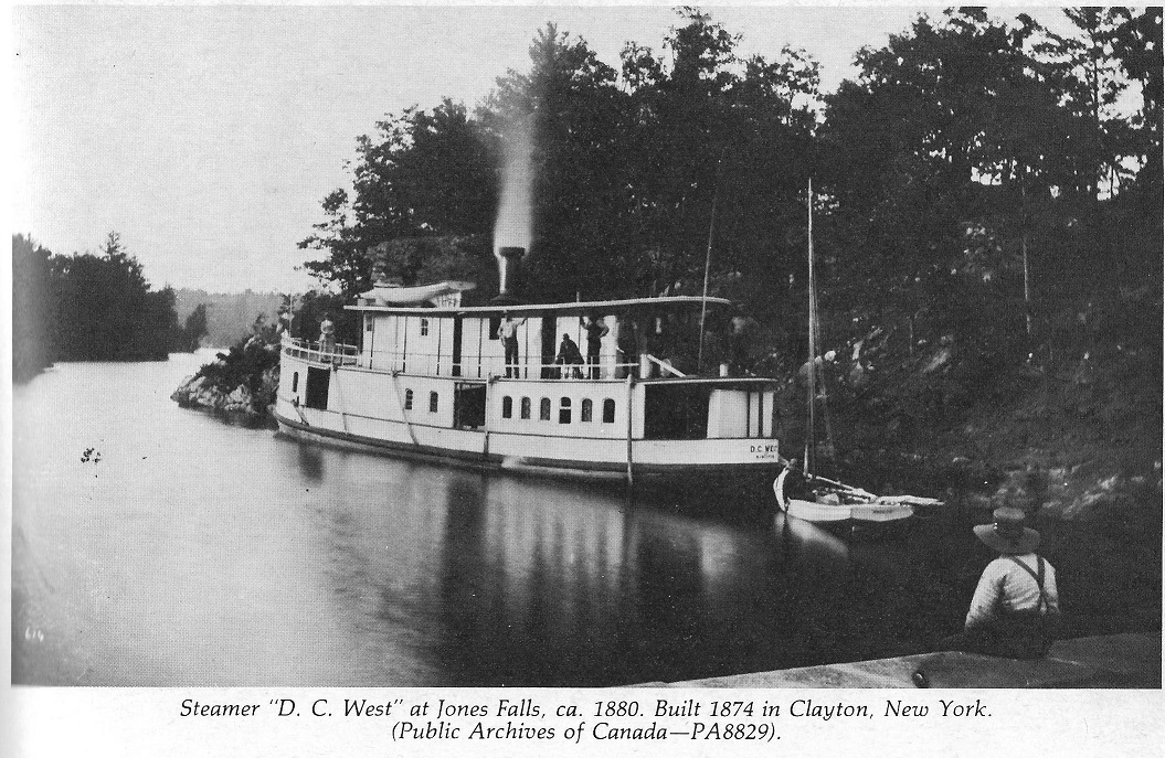 Steamer D.C. West at Jones Falls