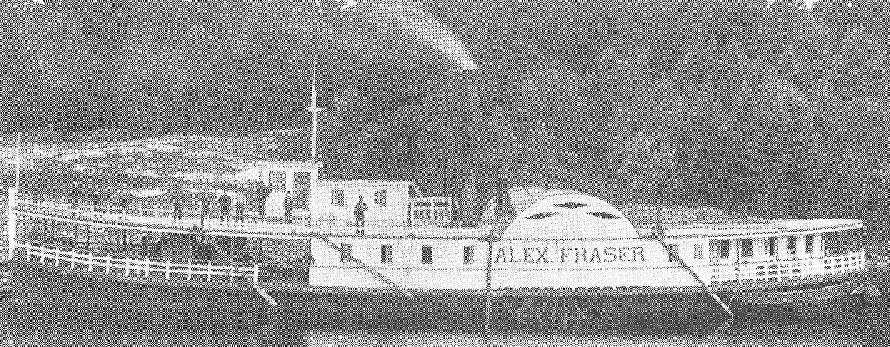 The longest steamer, the Alex Fraser