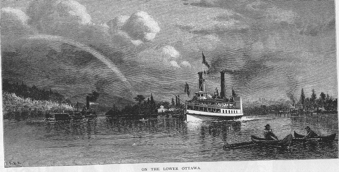 Steamer on the Lower Ottawa River
