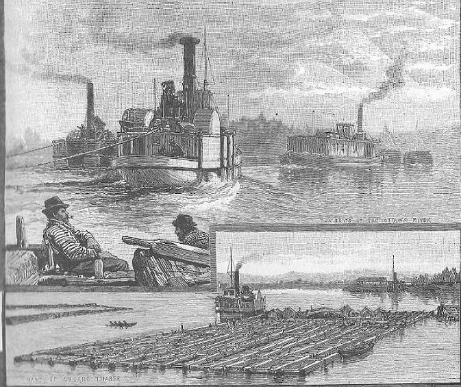 Lower Ottawa Steamer Lumbering