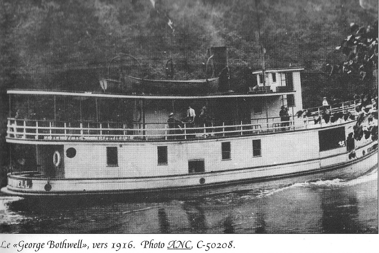 Steam Boat George Bothwell on the Lievre River